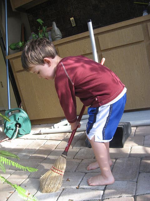 To get kids to do their chores, make a work wheel that builds a sense of collaboration and fairness into each task.