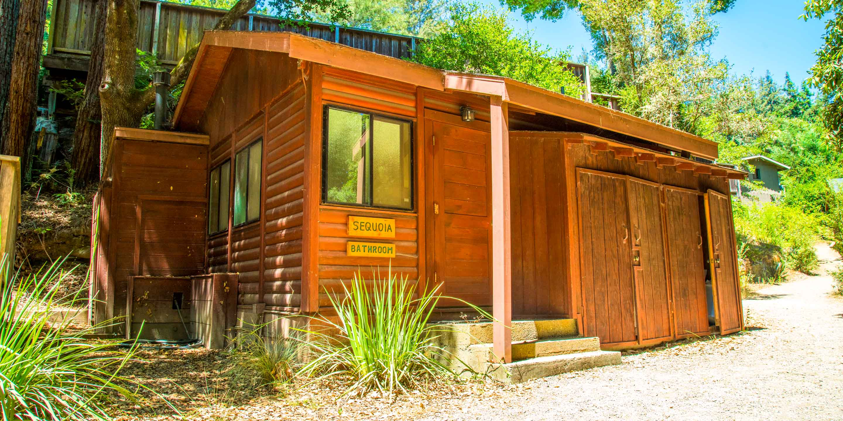 Sequoia, on of Kennolyn's camp bathroom cabins