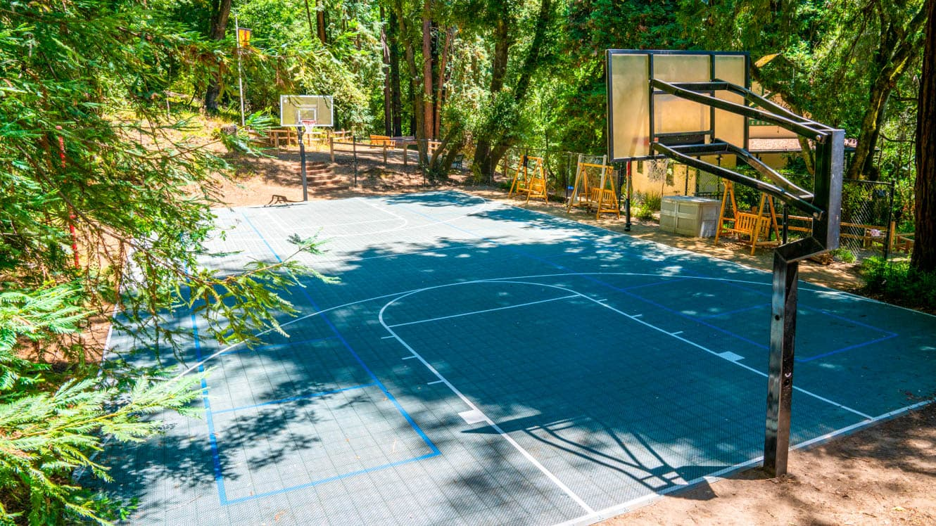 Basketball court at Kennolyn summer camp