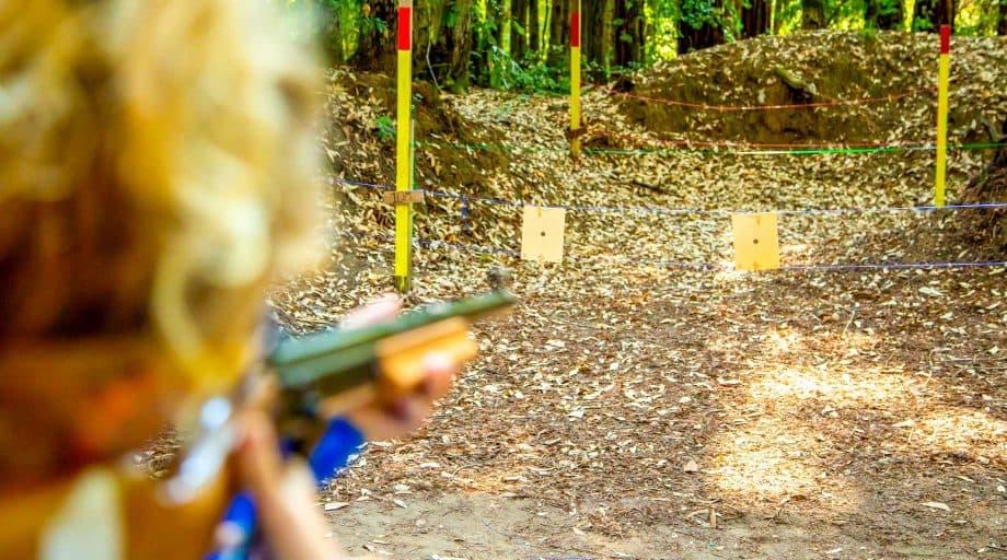 Camper aims rifle at summer camp