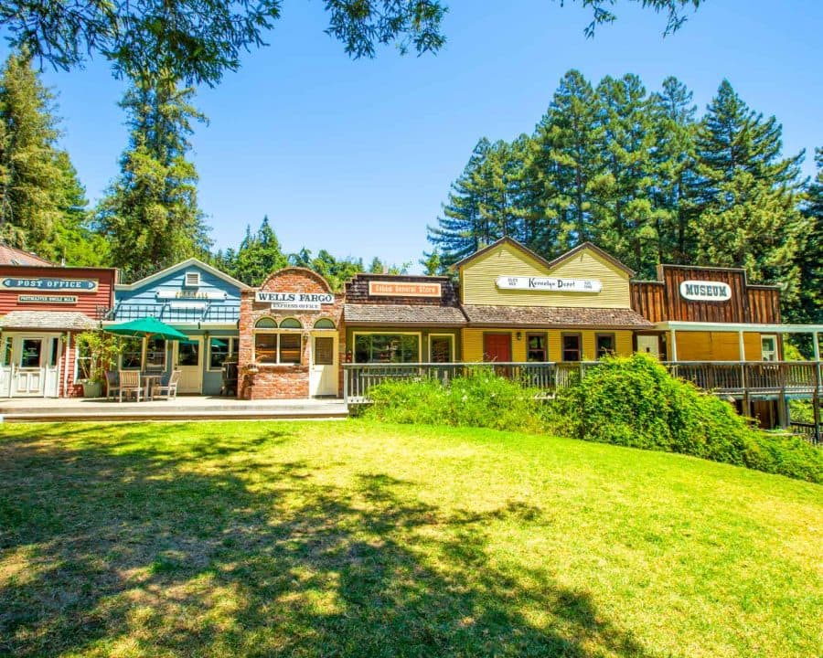 Main Street shops at Santa Cruz Mountains Camp