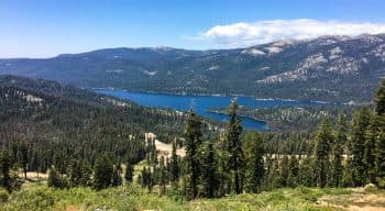 A landscape view of huntington lake