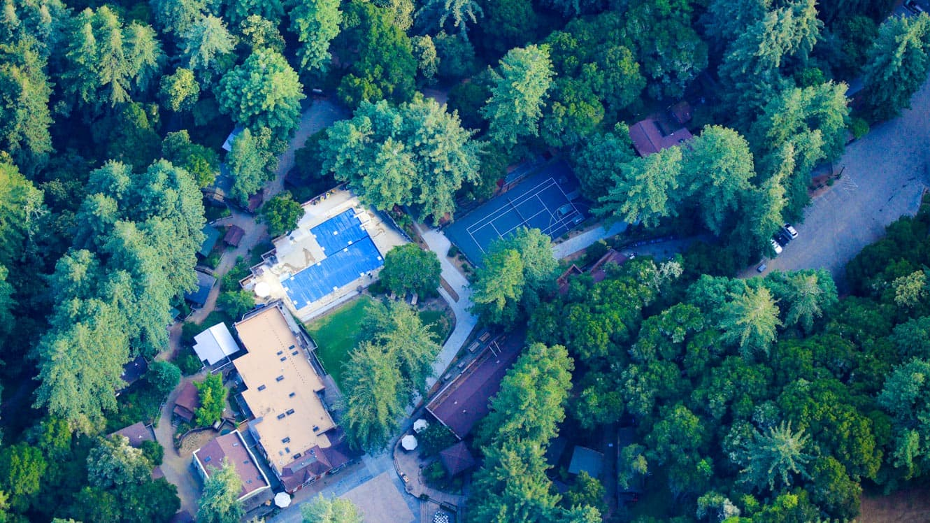 Aerial view of Kennolyn's Santa Cruz camp