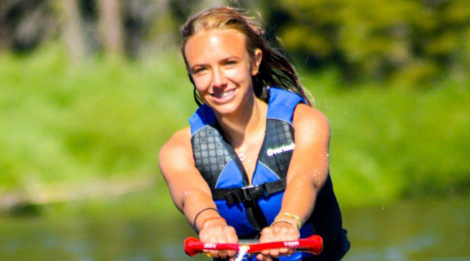 a girl water skiing